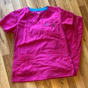 Hot pink scrubs